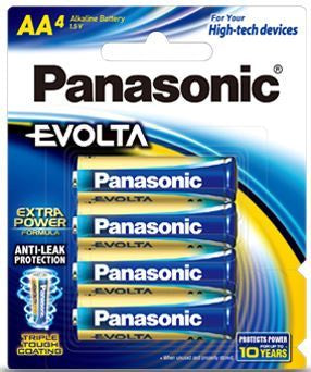 Panasonic Evolta AA Alkaline Battery 4 Pack