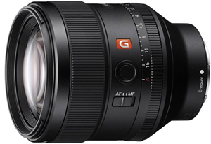 Sony Alpha SEL85F14GM FE 85mm F1.4 GM E Mount Lens