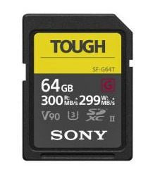 Sony SFG64T V90 UHS-II U3 Tough SDXC Card 64GB