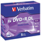 Verbatim DVD+R DL 8.5GB 10x 5 Pack with Jewel Cases