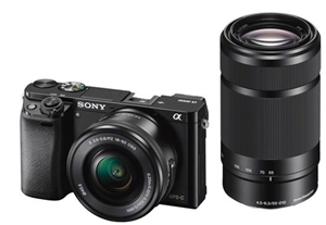 Sony Alpha A6000 24.3MP APS-C M/less Cam E Mt Twin Lens Kit