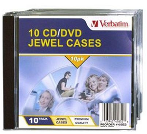Verbatim CD/DVD 10 Pack Clear Jewel Cases