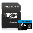 ADATA Premier microSDXC UHS-I A1 V10 Card with Adapter 64GB