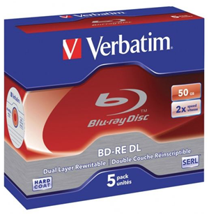 Verbatim BD-RE DL 50GB 2x 5 Pack with Jewel Cases
