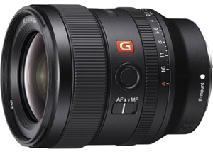 Sony Alpha SEL24F14GM FE 24mm F1.4 GM E Mount Lens