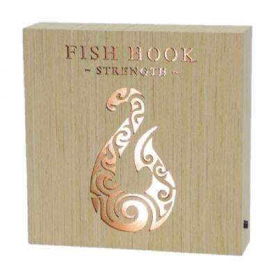 Fish Hook Strength wooden LED block