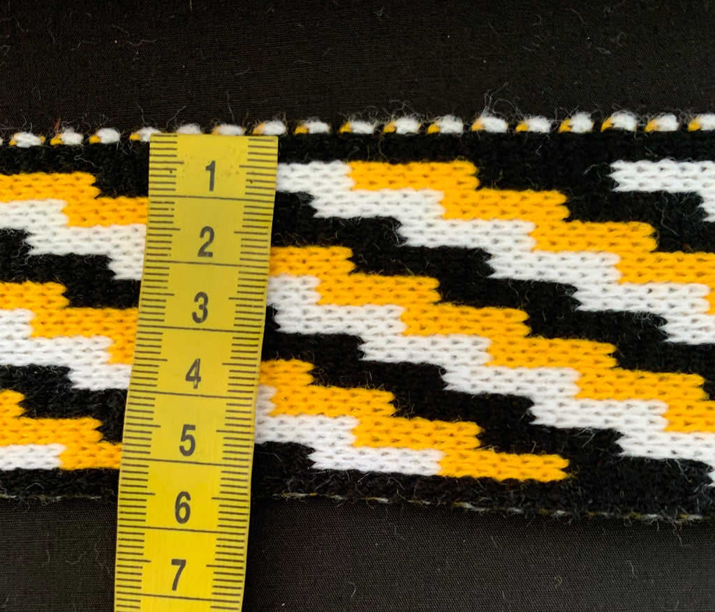 Gold Black and White Poutama - 2.5 inch Band