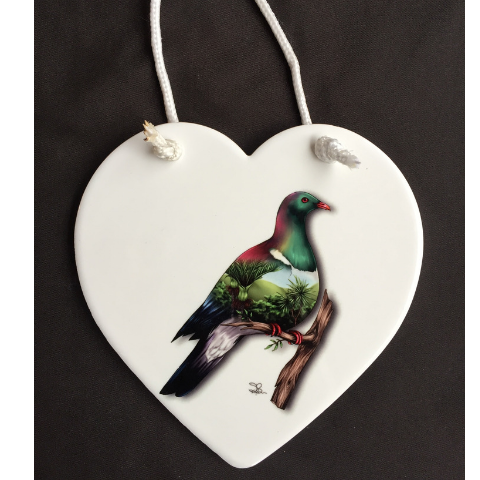 'Wood Pigeon' Wall Plaque