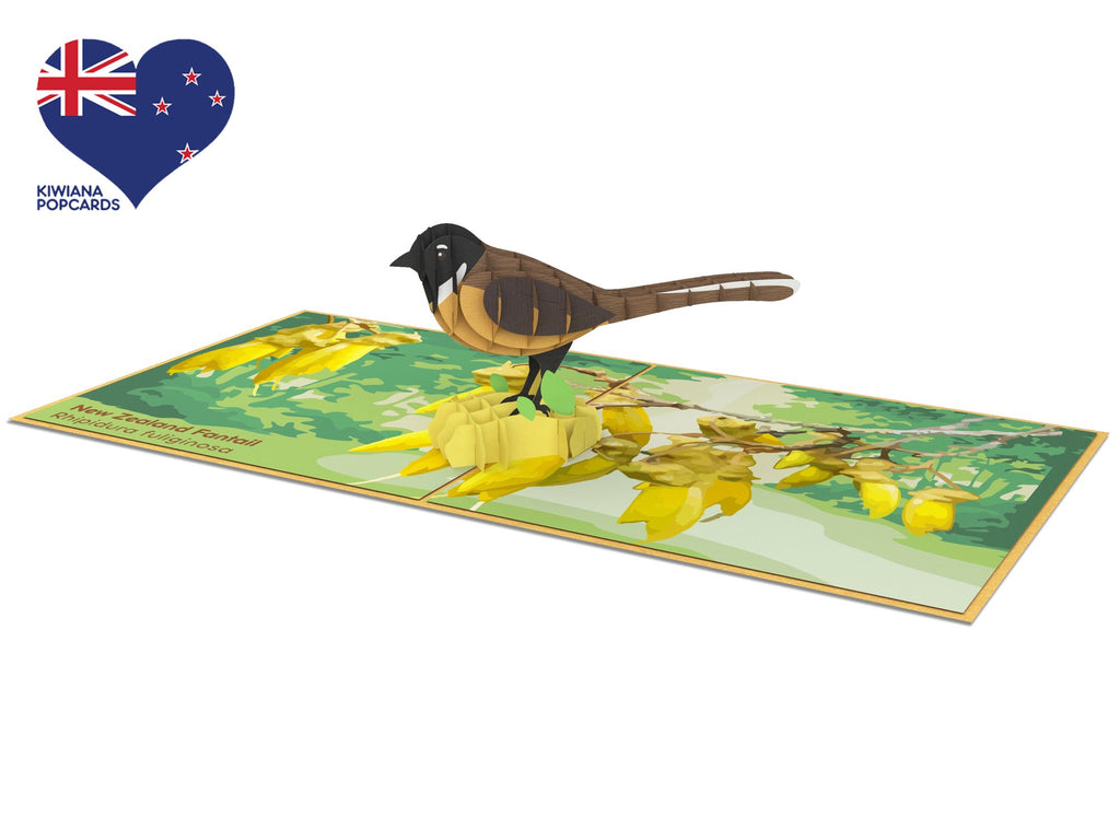 New Zealand Fantail Pop-Up Card