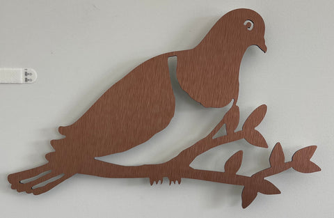 Kereru on Branch Brushed Copper
