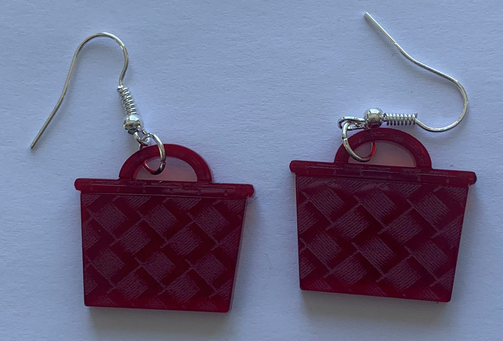 Maroon Satin Kete Earrings