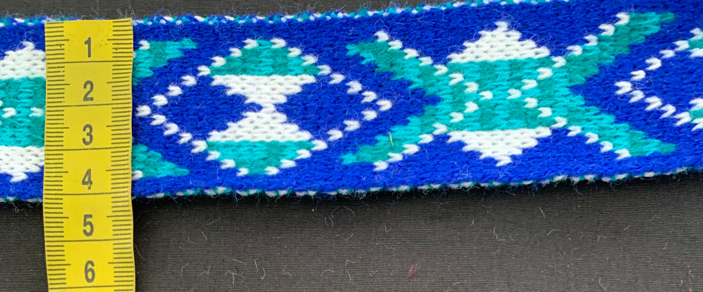 Royal Blue White and Turquoise -Taniko Band