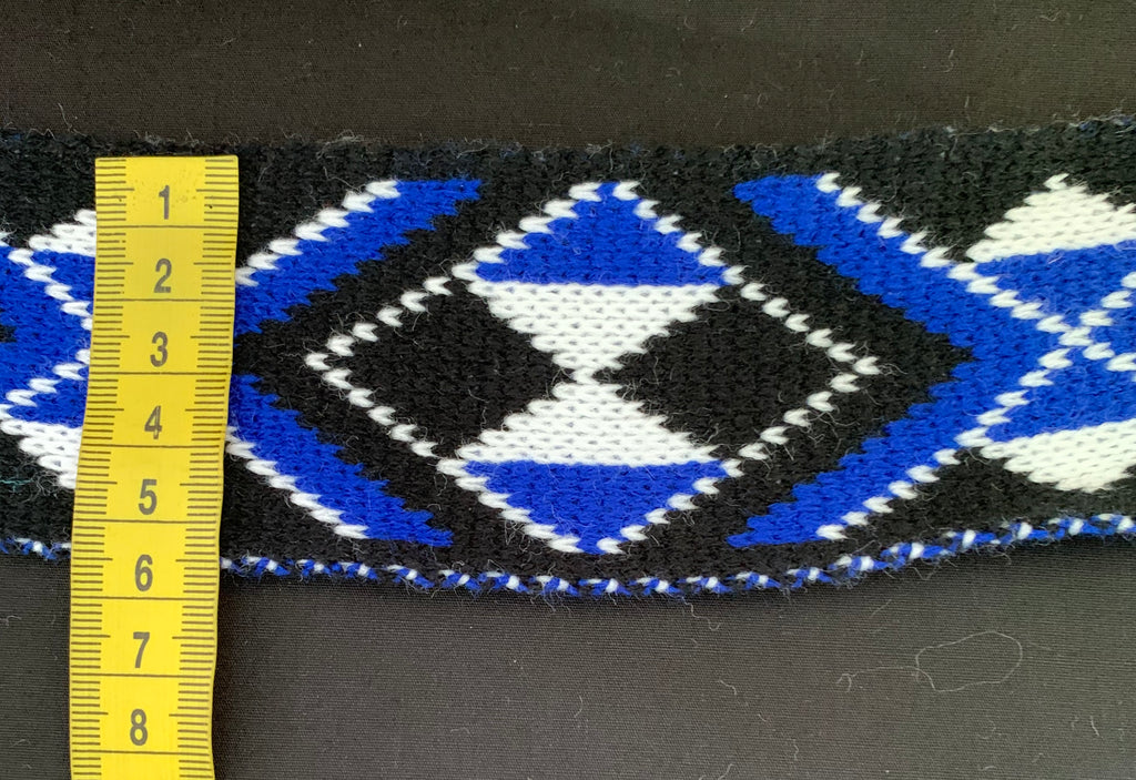 Royal Blue Pātiki-2.5inch Taniko Band