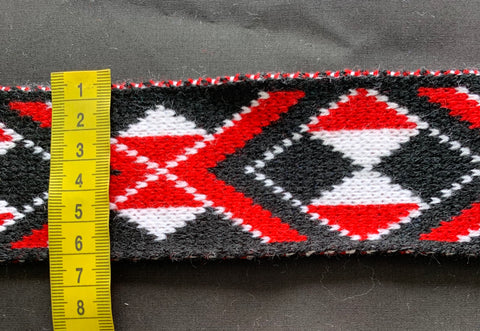 Red Pātiki- 2.5 inch Taniko Band