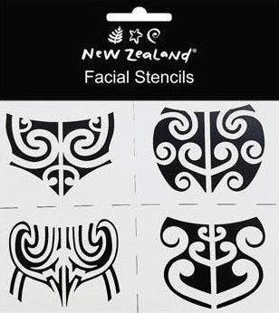 Stencils NZ Maori Facial 4 Designs