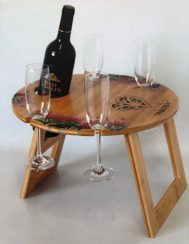Aroha: Round Bamboo Table