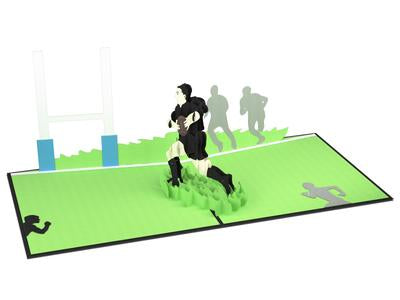 All Blacks Rugby Pop-Up Card
