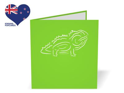 New Zealand Tuatara 3D Creative Pop-Up Card