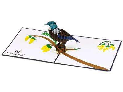 NZ Tui 3D Creative Pop-Up Card