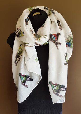 NZ Native Birds Scarf