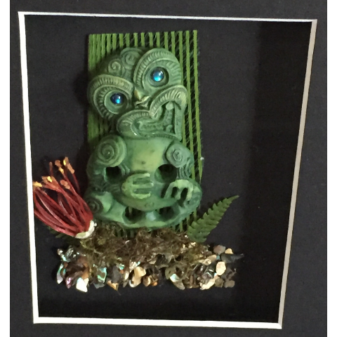 Two Tiki Framed