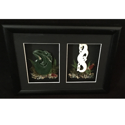 Carved Manaias Framed