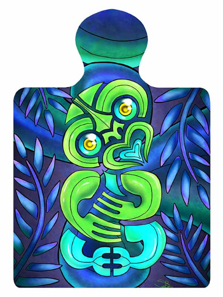 Colourful Tiki Trivet Wall Plaque