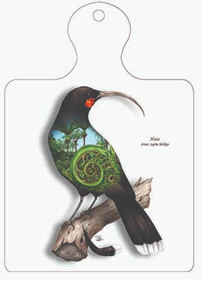 Huia Trivet Wall Plaque