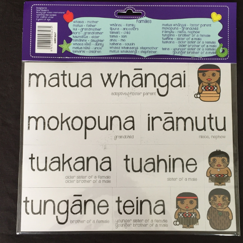 Families in Maori - Magnets