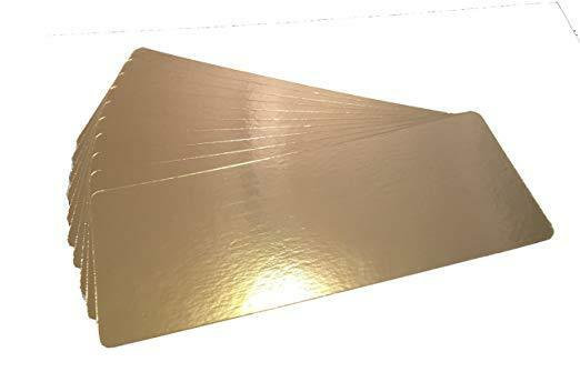 7 x 19 inch, 1.4mm thick Smoked Salmon Fish Deli Boards - Gold one Side, Silver one Side - 50 boards per bundle