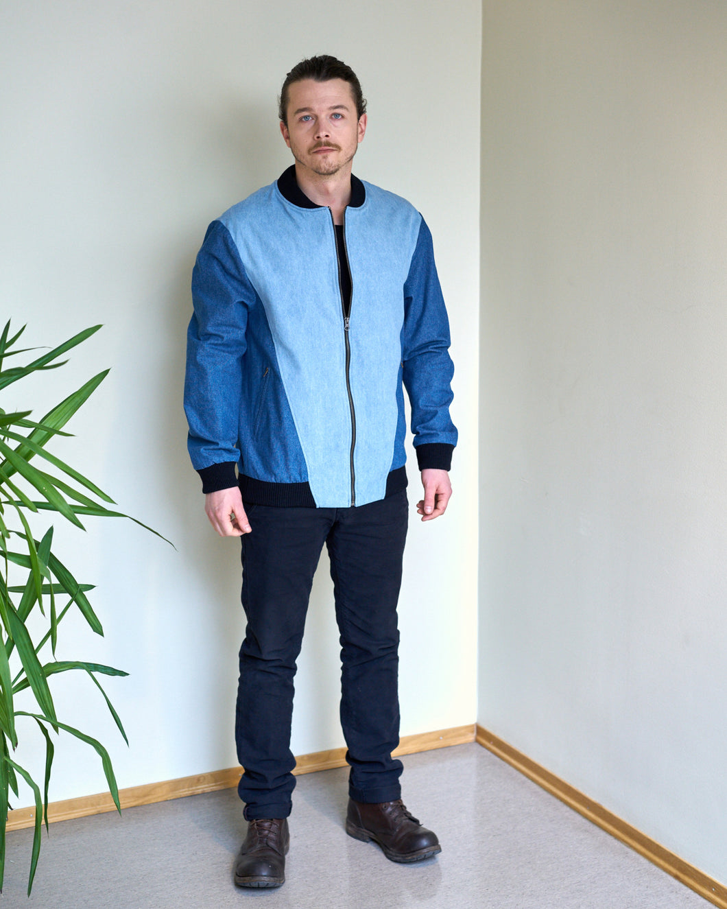 Jacket mens denim bomber jacket JK 306