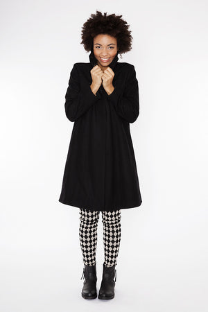 coat classic black wool coat