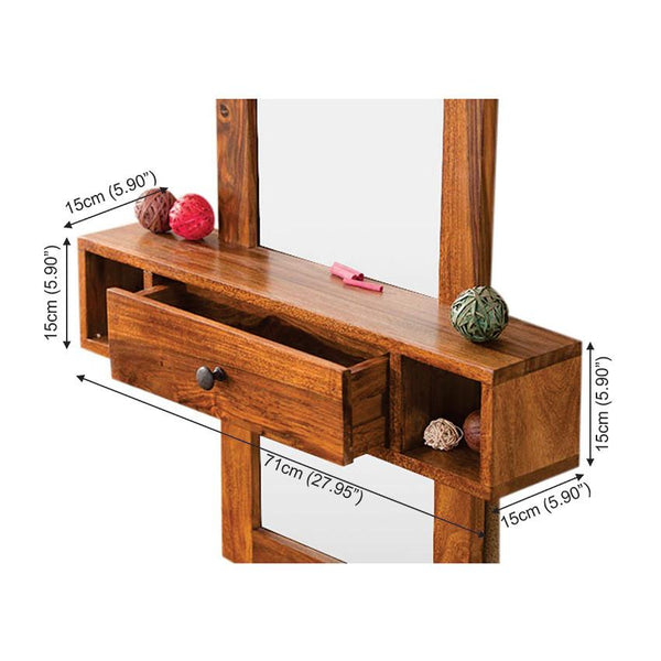 Solid Wood Charlie Wall Hanging Dressing