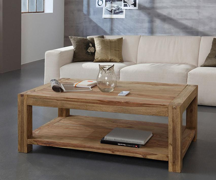 Solid Wood Romeo Shelf Coffee Table