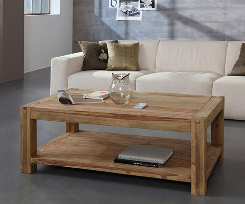 EXTRA 10% OFF Solid Wood Romeo Shelf Coffee Table