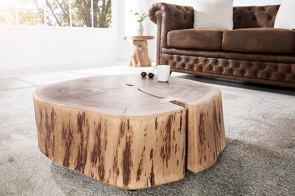 Solid Wood INDIANA Roll Coffee Table