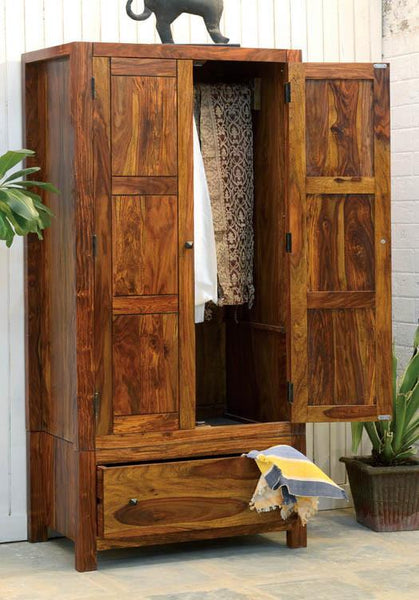 Solid Wood Cubex Wardrobe