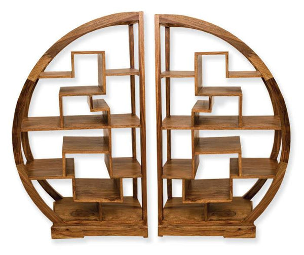 Solid Wood Cube Arch Bookcases