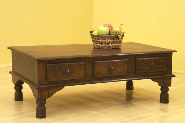 Solid Wood Jaipur 3 Drawer Coffee Table