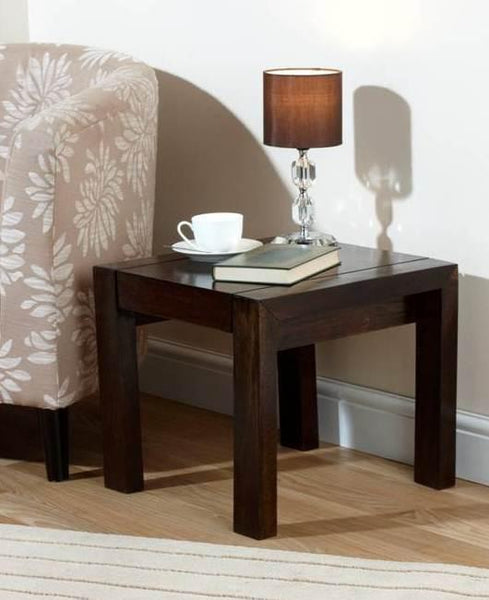 Solid Wood Cubex Lamp Table