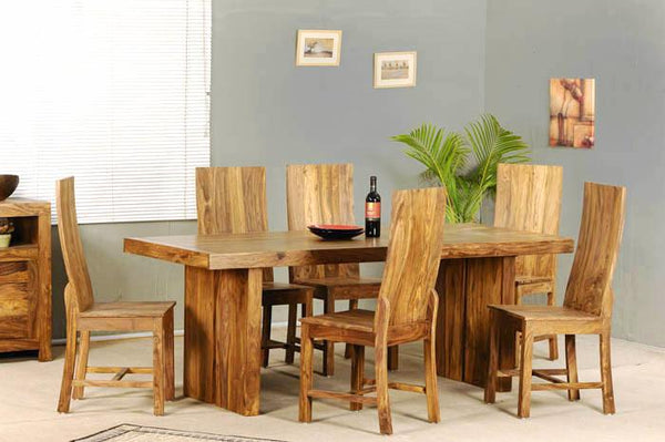 Solid Wood Capital Dining Set