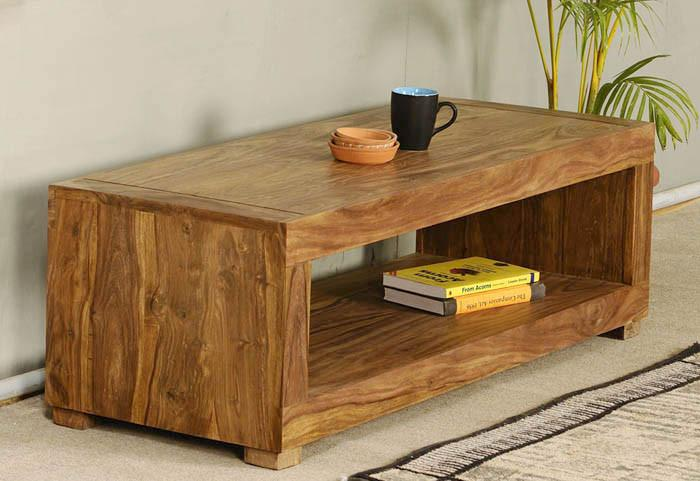 Solid Wood Capital Coffee Table