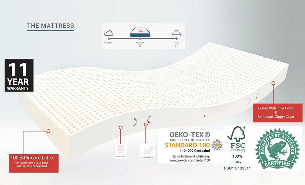 Natura 100% Organic Latex Mattress