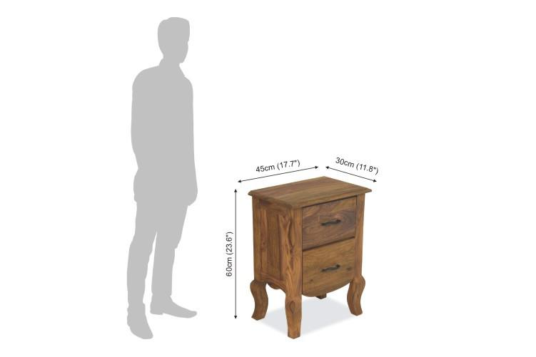 Solid Wood Tania Grand Bedside Table