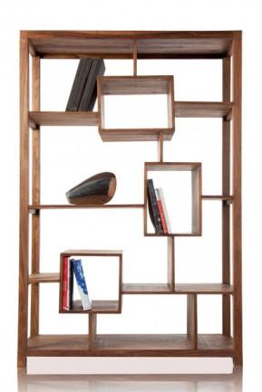 Solid Wood Cube Geo Bookcase