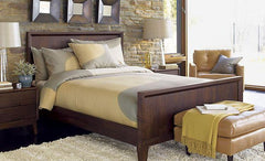 Solid Wood Rayon Bed