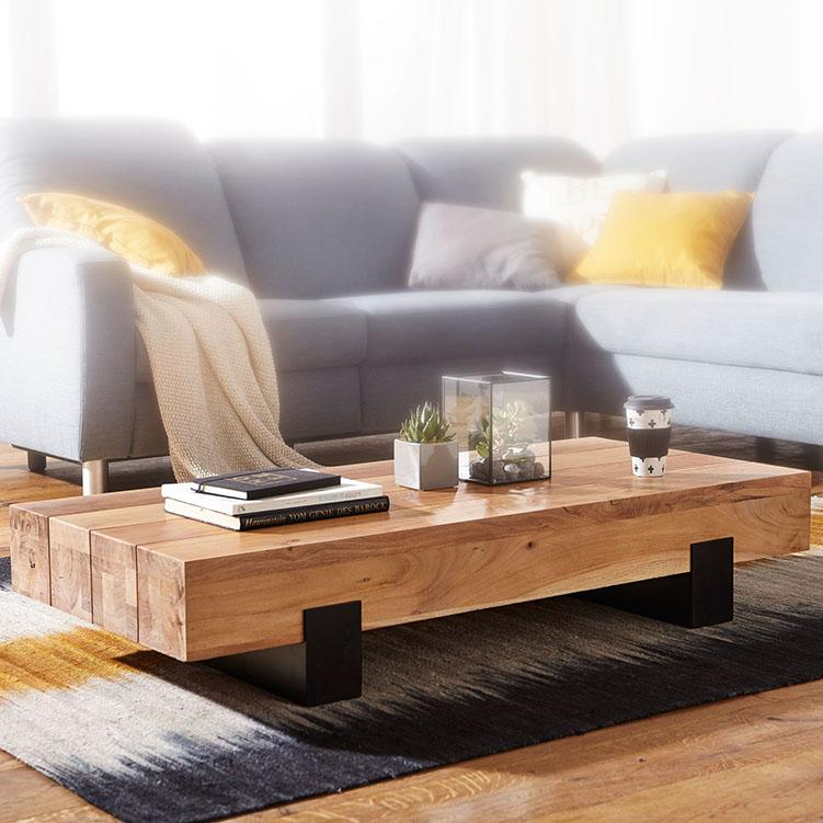 Buy Solid Wood Indiana Contrast Coffee Table Buy Furniture Online
