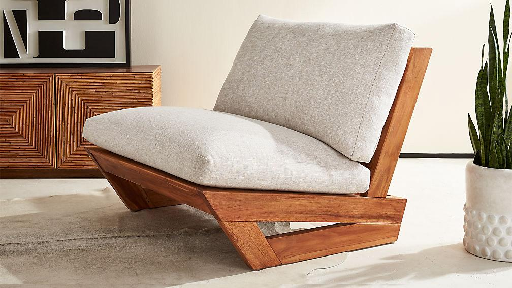 Solid Wood Teffe 3 Seater Lounger