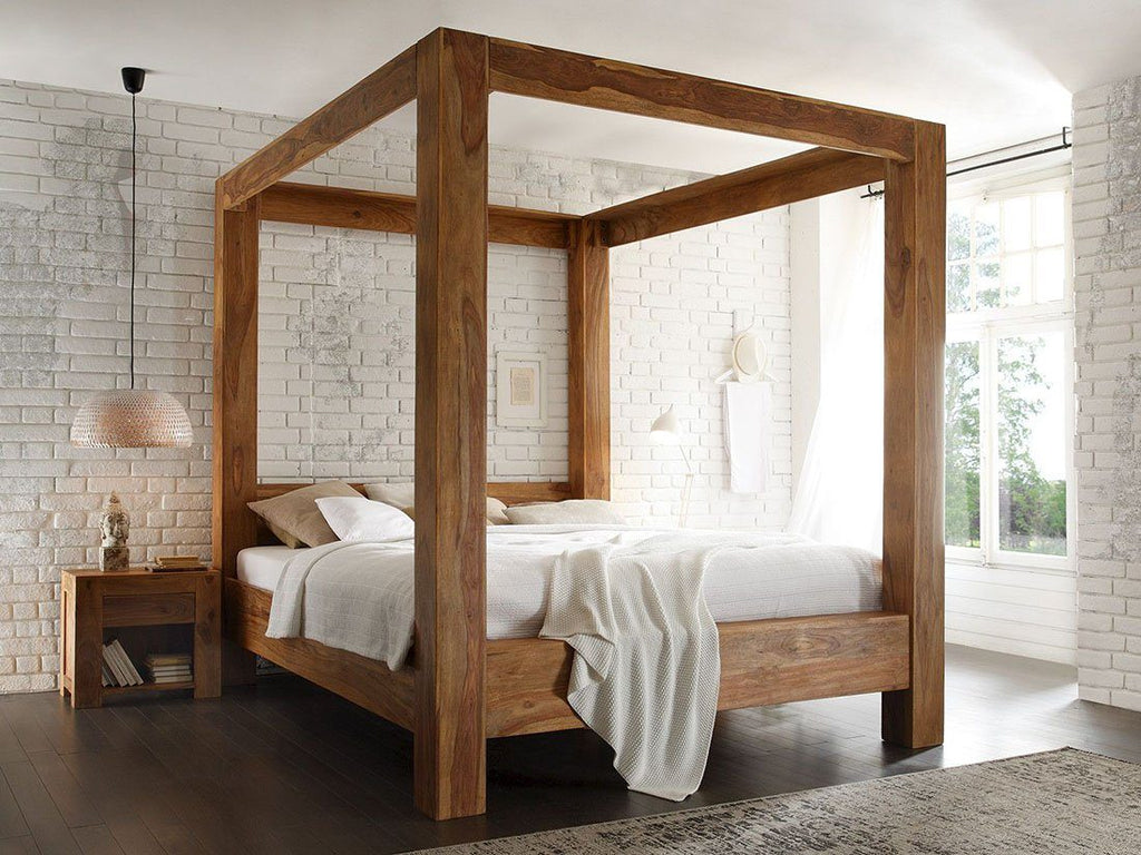 Solid Wood Bust Poster Bed