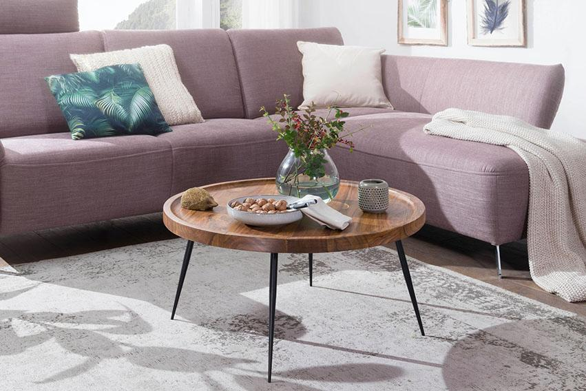 Solid Wood Indiana Lass Round Coffee Table